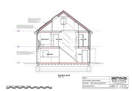 self build passive house cross section aa