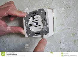How To Replace A Light Switch With A Dimmer How To Replace A Light Switch With A Dimmer Stock Image