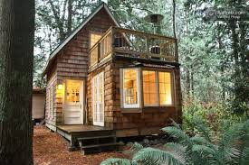 tiny cabin with upstairs balcony and small space ideas galore Small Cabin  Designs