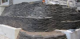 flex mse vegetated retaining wall and slope ilization earthbag retaining wall