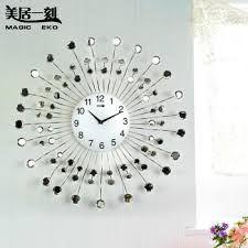 Buy Mercure Moment Fashion Creative Wall Clock Home Decoration Diamond  Watches Bedroom, Living Room , Wrought Iron Wall Clock Silent In Cheap  Price On ...