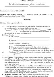 18 Catering Contract Templates Word Excel Formats
