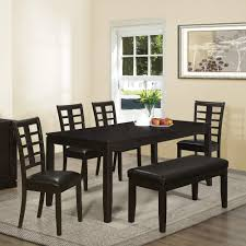 wooden seat extraordinary dining room sets big and small with bench seating set black table chairs contemporary asian inspired