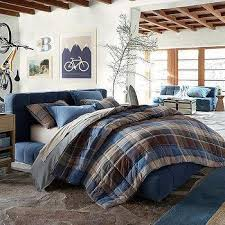 loren plaid duvet cover and sham