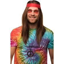 Hippie kostüm flower power damen hemd schlaghose 60er 70er jahre. Balinco Hippie Set Mit Perucke Runde Sonnenbrille Peace Anhanger Rotes Kopfband Fur Herren Damen 70er Jahre Fasching Karneval Amazon De Spielzeug