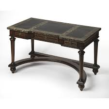 fossil stone writing desk hover to zoom