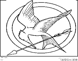 Small Picture Hunger Games Katniss Coloring Pages