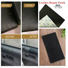 15x25 cm leather repair patch vinyl adhesive for sofas car seats handbags jacket for