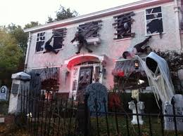 Outside Window Decorations Scary Halloween Outside House Decorations Festival Collections