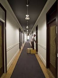 hotel hallway lighting. dark ceiling light walls brings space into proportion hallway at the ace hotel in portland lighting o
