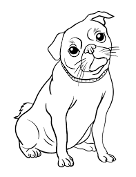 Small Picture Printable pug coloring page Free PDF download at http