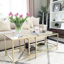 gold nesting coffee table superhuman my diy ikea is finished i love the designer tables but