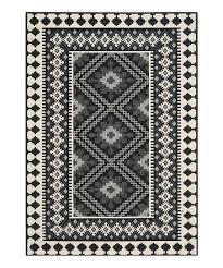 black cream veranda indoor outdoor rug