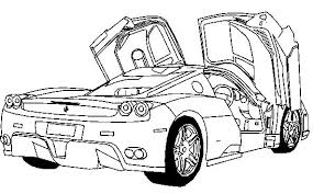 Deluxe Ferrari Sport Car Coloring Page Ferrari Car Coloring Pages