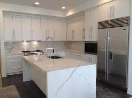 image of clean porcelain slab countertops