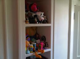 ... stuffed animals which we display on shelves ...