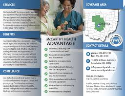 Tri-Fold Brochure Print Design For Mccarthy Health Services ...