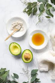 a simple real food inspired face mask made with leftover avocado rolled oats