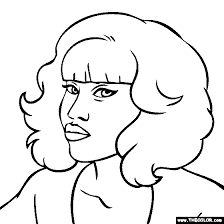 Small Picture Nicki Minaj Coloring Page Nicki Minaj Coloring