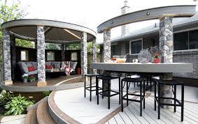 multievel curved deck