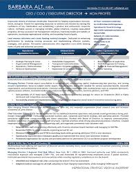 Executive Resume Sample Chief Executive Officer Executive Resume