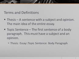 response to literature essay what is it  a formal response to  terms and definitions  thesis a sentence a subject and opinion