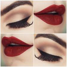 you can never go wrong with these 5 clic makeup looks red lipstick makeup bold