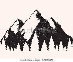 pin Drawn mountain silhouette #10