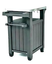 outdoor grill prep table unity indoor serving cart station diy