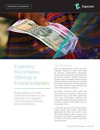 Expanding Microfinance Offerings in Emerging Markets