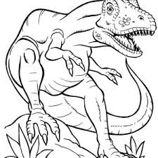 Small Picture Triceratops Defending Her Children from T Rex Coloring Page