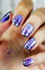 Stamping Nail Art Design, Indian Ocean Polish: Purple Marbled ...