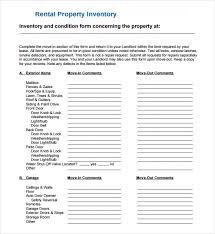 Word Inventory Free 5 Sample Landlord Inventory Templates In Pdf Word