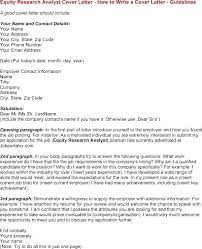 Equity Research Analyst Cover Letter New Superiorformatting Template