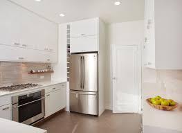 Kitchen White Floor Tiles - White contemporary kitchen