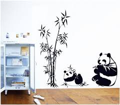 Panda Bamboo Pattern Decal Lovely Home Decor Bedroom Home Decoration  Removable Waterproof Wall Sticker