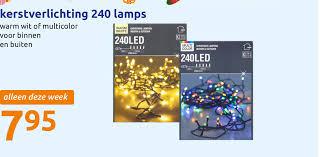 Kerstverlichting 240 Lamps Aanbieding Bij Action