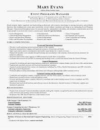 Event Planner Resume Free Download Wedding Planner Resume New Top