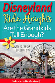 Disneyland Ride Height Requirements Traveling With