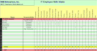 Technical Skills Matrix Template