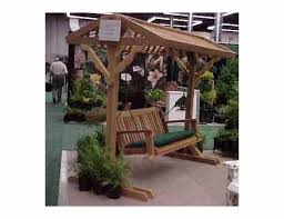 cedar wood yard swing frame with roof