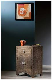 brass and metal furniture. Embossed Brass Metal One Drawer Two Door Bedside Table/Cabinet And Furniture