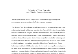 psychological theories on crime prevention and offender treatment  document image preview