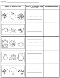 beginning sounds worksheets - huhocolorhd