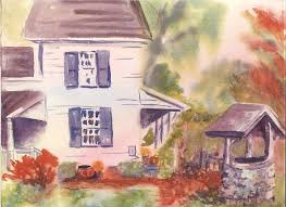 landscape painting garrett d ackerman tenant farmhouse of ridgewood nj by alice kaplan