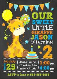 Safari Party Invitations Animal 1st Birthday Invitations Giraffe Birthday Invitation Giraffe