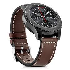 tsv tsv genuine leather watch band 22mm genuine leather band with buckle strap replacement wristband for samsung gear s3 frontier classic smart watch