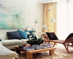 Turquoise Living Room Decor Living Room Contemporary with Art Artwork Blue  Pillows