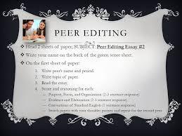 peer editing head sheets of paper subject peer editing essay  peer editing head 2 sheets of paper subject peer editing essay 2