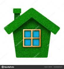 Kleine Grüne Grass Haus Mit Fenster Stockfoto Venakr 178684330